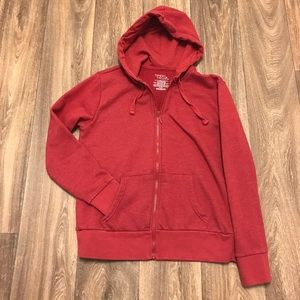 Red zip up hoodie cotton blend size M